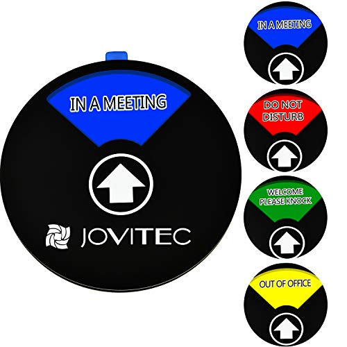 Jovitec Privacy Sign Office Sign, Include in a Meeting Sign Welcome Please Knock Sign Do Not Disturb Sign Out of Office Sign for Home Office Supplies (Color 1, 5.9 Inches)