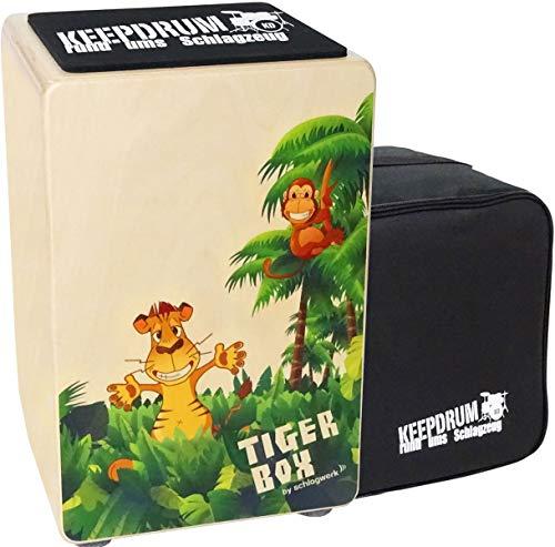 Schlagwerk CP400 Tigerbox Kinder-Cajon + keepdrum Tasche + Sitz-Pad