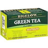 Bigelow Tea ビゲローカフェイン抜きの緑茶20袋(6パック)カフェイン抜きの個々のグリーンティーバッグは、ホットティーまたはアイスティーのために、平野を飲むか、ハチミツや砂糖で甘く