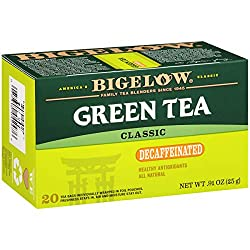 Bigelow Classic Green Tea Decaffeinated, 20 ct