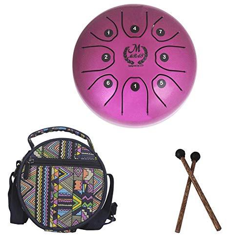 Dadahuam Pan Drum Stahl Tongue Drum Trommel 5.5 Zoll Mini 8-Ton C Schlüssel Perkussion Instrument Mit Schlagzeug,Glückliche Trommel Musikinstrument Mit Sticks Und Nationalen Stil Various Occasions