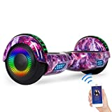 SISIGAD Hoverboard Self Balancing Scooter 6.5' Two-Wheel Self Balancing Hoverboard with Bluetooth Speaker for Adult Kids Gift - Fun Edition