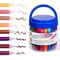 50-Count TBC Washable Non-Toxic Glitter Glue Pens