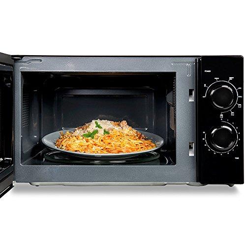 Cecotec Microondas All Black Grill. 700 W de Potencia, Capacidad de 20l, Grill de 900 W, 9 Niveles...
