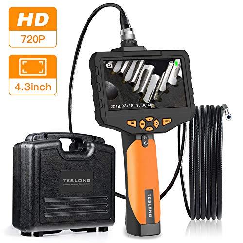 Teslong Inspektionskamera 4,3-Zoll-Farb-IPS-Monitor Mit 720P HD-Auflösung Aufnehmen Industrie IP67 wasserdichte Hand Endoskop Kamera Kabel 5,5mm Durchmesser(Länge 3 m)