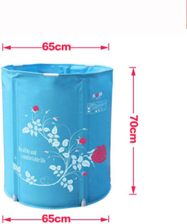 Das faltbare Badewanne Dusche und Badewanne füllen Home Kunststoff Whirlpool, blau, 65  70 cm
