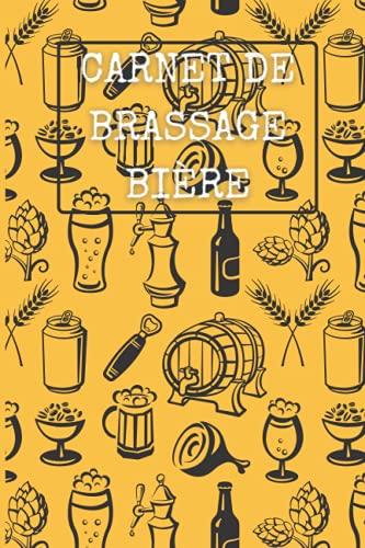 Carnet de brassage bière: 100 Fiches de brassage à compléter | Brasserie | Pour brasseur amateur ou professionnel | Bière maison