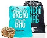 Ameeze – Bolsa para el pan de 100% poliéster reciclado – la bolsa para el pan es reutilizable para conservar frescos y congelados (juego de 2)