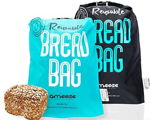Ameeze Bolsa para el pan, la bolsa para el pan es reutilizable, la bolsa para el pan es adecuada para almacenar, conservar los alimentos frescos y congelar, con certificado Öko-Tex ® Standard.