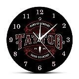 yage Nombre del Estudio de Tatuajes Personalizado Reloj de Pared acrílico Tatuajes Pistola Artista Regalo Arte Corporal Tatuajes Logotipo del salón Nombre de la Empresa