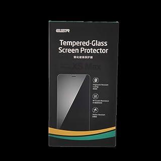واقي شاشة من الزجاج المقوى اي اس ار تغطية كاملة مع دليل بلاستيكي لهاتف آيفون اكس اس ماكس