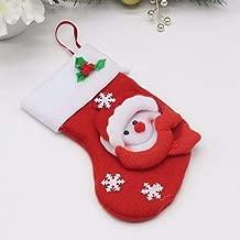 SLIMME KOPER- Christmas Gift Socks Tableware Bags Santa Claus Christmas Tree Decoration Supplies .Christmas Decorations Children Gifts Candy Socks Gift Box Santa Claus (Pack of 1) Socks