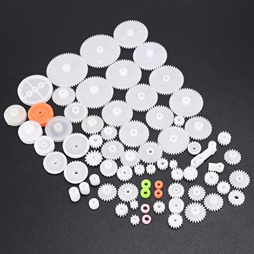 L-Yune,bolt 64pcs plástico Kit del Engranaje del Eje