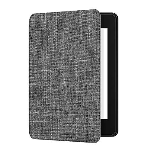 Ayotu Custodia in pelle per materiale tessile Kindle Paperwhite-Waterproof, risveglio/sonno automatico, funzione magnetica inversa (serve solo per il modello 10a generazione 2018),Grigio