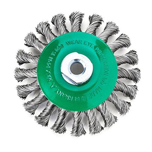 Lessmann 471857 - Cepillo de Trenza Cono de 100 x 12 mm 18 para Prima de 0,50 mm Suave Rosca m 14,