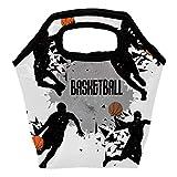 Bolsa térmica para el almuerzo, con cierre aislado para jugadores de baloncesto, bolsa de almuerzo, bolsa de mano para el aire libre, escuela, oficina