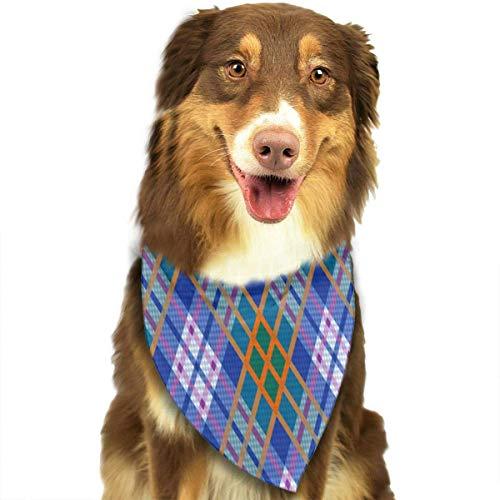 zjipeung Patrón sin Costuras rómbico Triángulo Babero Bufanda Bufanda Accesorios Gatos y Perros Mascotas