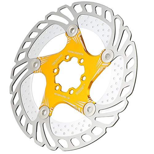 Alomejor Fahrrad Bremsscheibe Rotoren180mm und 6 Schrauben Fit für Rennrad Mountainbike MTB BMX(Golden)