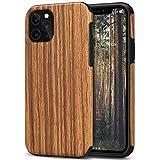 TENDLIN Funda iPhone 11 Pro Madera y TPU Híbrido Carcasa Compatible con iPhone 11 Pro (Sándalo Rojo)