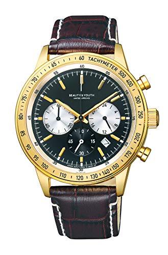 [シチズン] 腕時計 BEAUTY&YOUTH UNITED ARROWS ビューティ&ユース ユナイテッドアローズ LEATHER SPORTS CHRONO BA4-922-50 メンズ ブラウン