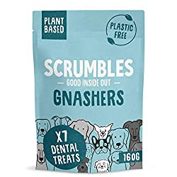 This multipack of 42 Scrumbles daily dental chews will keep your dog's breath fresh! The crunchy texture and active ingredients are designed to promote oral health They are scientifically proven to reduce tartar build up by up to 80% with daily use, ...