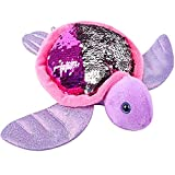 ArtCreativity Flip Sequin Sea Turtle Plush Toy, 1PC, Soft Stuffed Sea Turtle with Color Changing Sequins, Cute Home and Nursery Animal Decorations, Calming Fidget Toy for Girls and Boys, 10.5 Inches
