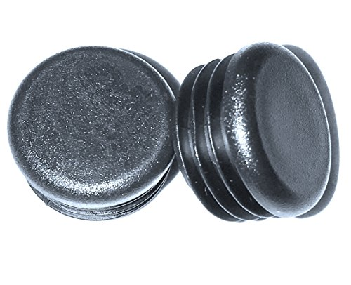 """(Pack of 8) Plugs - 1"""" Round OD (14-20 Gauge - for Hole Size 0.84""""-0.93"""" ID) Fencing Tubing Plug, 1 Inch Outside Diameter End Cap - Steel Furniture Pipe Tube Insert 