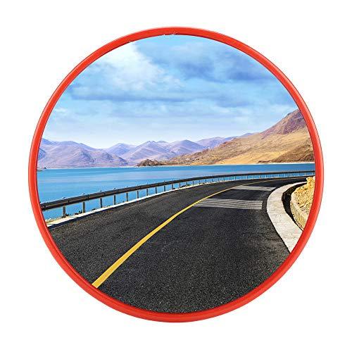 EBTOOLS Espejo convexo de seguridad, espejo panorámico convexo de trabajo para la seguridad en carretera y para tiendas, naranja