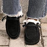 ZXCN Mocasines para Mujer Invierno Cálido Ladies Peluche Corto Peluche Slip en Plataforma Plana Zapatos Casuales Comfort Suave Suave Esponjoso