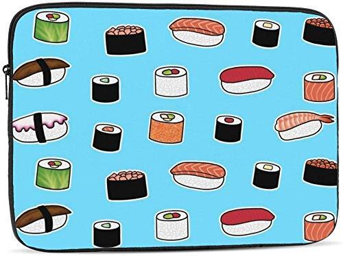 Portero de fútbol y la bandera de Polonia bolsa de la manga del ordenador portátil compatible con 10-17 pulgadas lindo ordenador portátil estuche-patrón de sushi, 15 pulgadas
