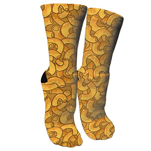 Funny Socks Mac N Cheese Crazy Novelty Socks For Men Women Running,Athletic,Nursing.