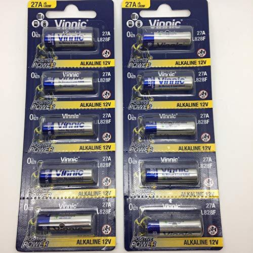 Pile 27A vinnic Haute Voltage 10 pièces 12v