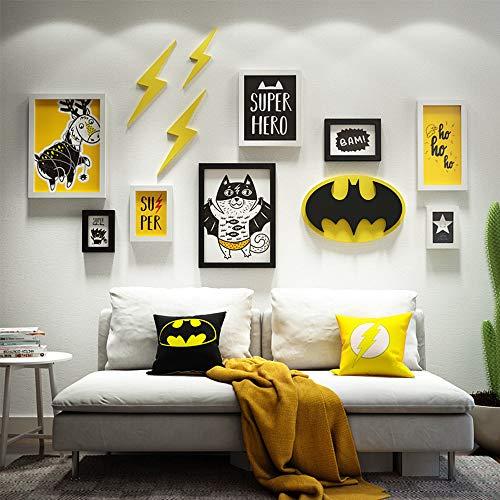 AnYi 3D Cartoon Fotobehang Wanddecoratie Schilderij Verwisselbare Foto Geschikt voor Kinderkamer Woondecoratie