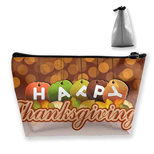 Trapezförmige Kosmetiktasche, Make-up, Kulturbeutel, Happy Thanksgiving, Reise-Aufbewahrungstasche, Handytasche