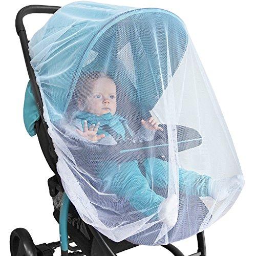 BABY MOSKITONETZ Für Kinderwagen, Autositz & Stubenwagen - PREMIUM Insektenschutz für Buggy, Babyschale & Kinderbett – mit hochwertiger Geschenkverpackung