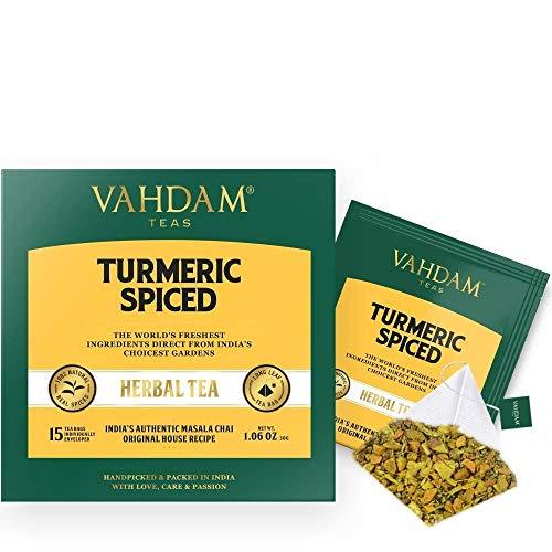 Vahdam Teas TEAS Turmeric Spiced Herbal Tea 15 x 2 g bags 30 g