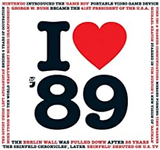 1989 BIRTHDAY or ANNIVERSARY Gift - I Love 1989 Greeting Card and 1989 Chart Hits Compilation CD