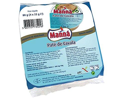 Manná, Makreelpaté, 4 x 22 g