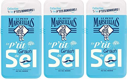 Le Petit Marseillais Duschgel, feuchtigkeitsspendend, mit Meersalz, 250 ml, 3 Stück