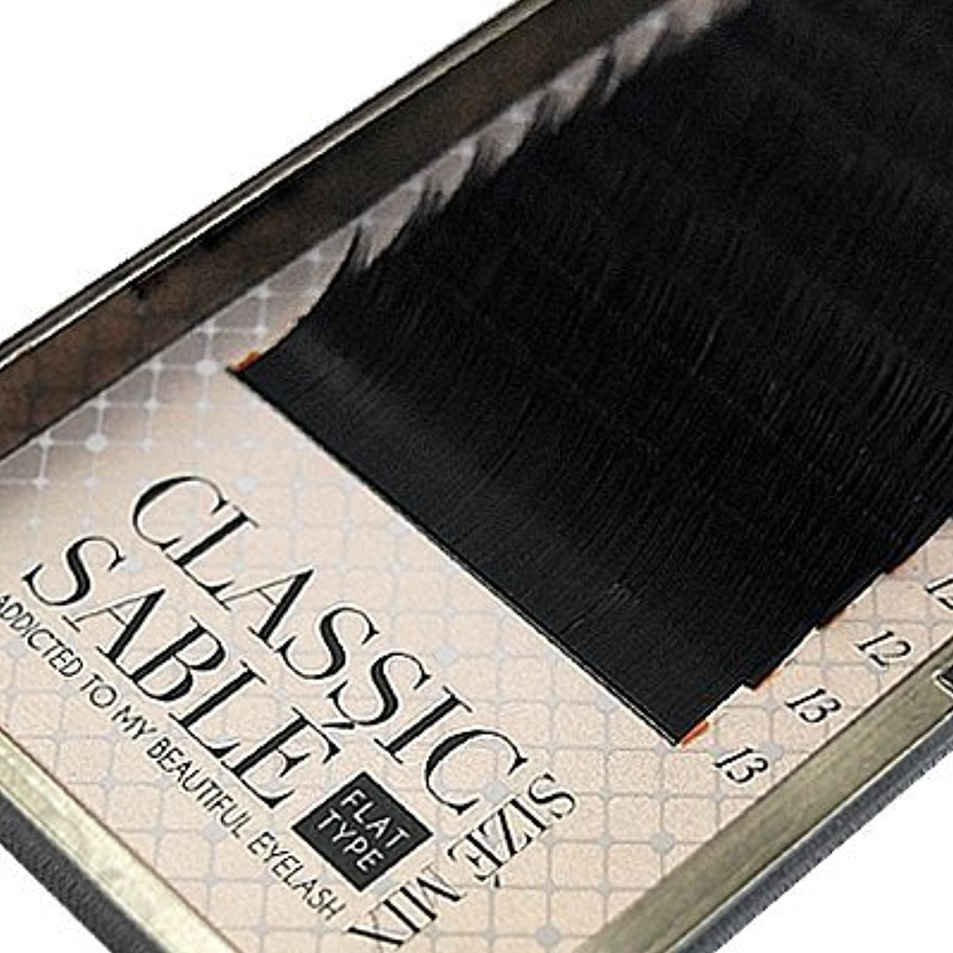 吸い込む魅力的性交【amass Bona】クラシックセーブル フラットタイプ Dカール サイズMIX×0.10mm