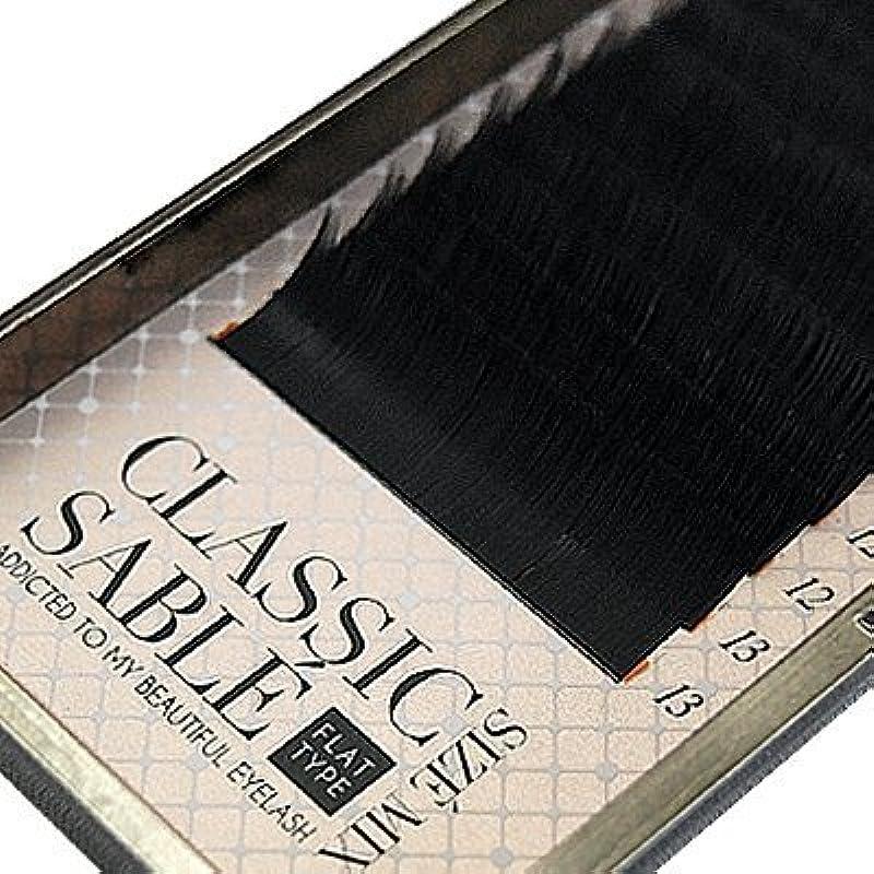 引き受ける間違いなくパフ【amass Bona】クラシックセーブル フラットタイプ Cカール サイズMIX×0.20mm