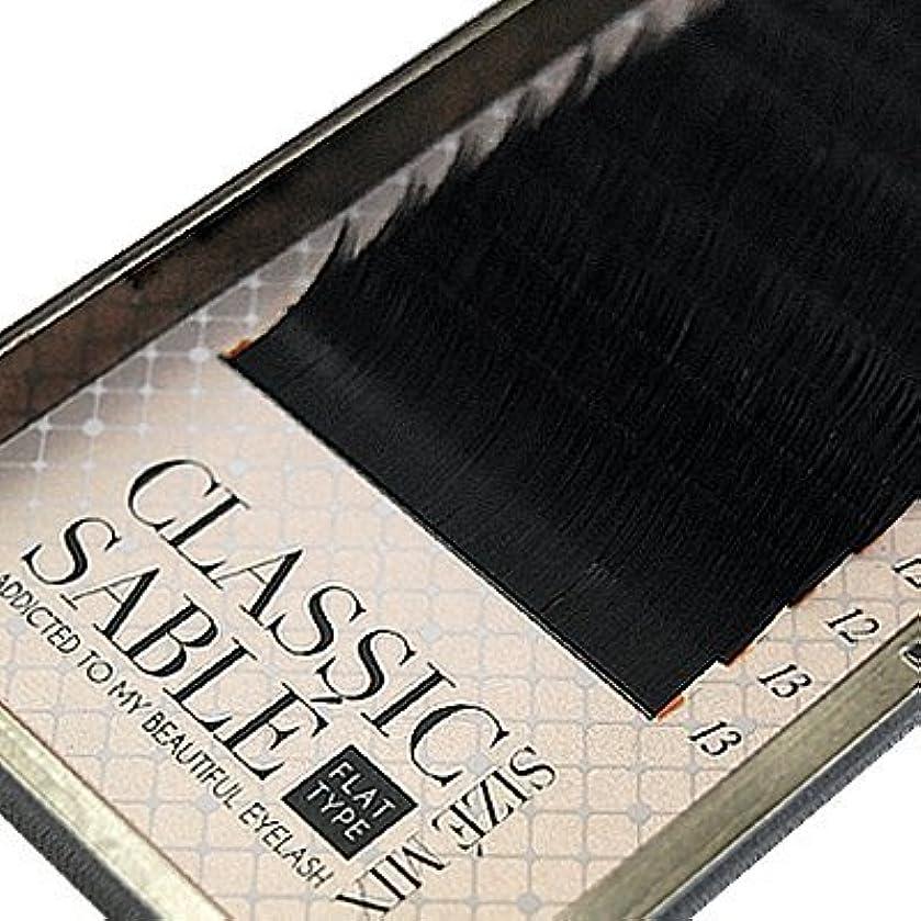 経済作者インスタンス【amass Bona】クラシックセーブル フラットタイプ Dカール サイズMIX×0.10mm