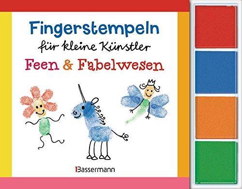 Fingerstempeln für kleine Künstler-Set - Feen und Fabelwesen: Mit vier Fingerstempelfarben
