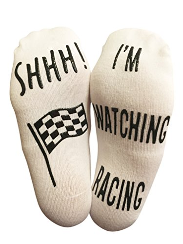 'SHHH I'm Watching Racing' Funny Ankle Socks - Perfect Gift For Motorsport Racing Fans