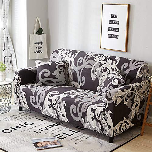 WXQY Funda de sofá geométrica elástica Funda de sofá elástica, Utilizada para la Funda de sofá de la sección de la Sala de Estar, Funda de Esquina, Funda de sofá A15 1 Plaza