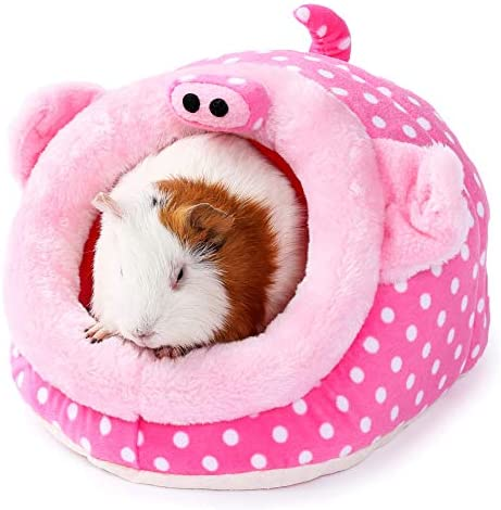JanYoo Animal Bed Guinea Pig Accessories Cage Habitat Toy Hideout House Washable product image
