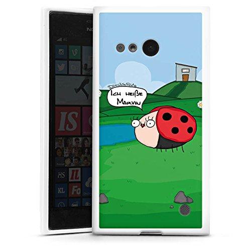 DeinDesign Silikon Hülle kompatibel mit Nokia Lumia 735 Hülle weiß Handyhülle Biene YouTube Youtuber