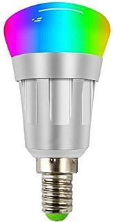 LVYIMAO Bombilla de luz inteligente, WiFi inalámbrico, conexión de color regulable, Alexa y Google Home Control de voz (E2...