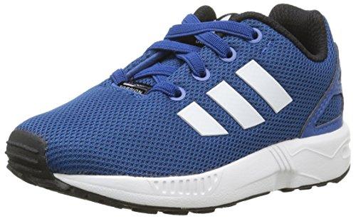 adidas Jungen Unisex Kinder Zx Flux EL I Sneaker, Blau Bleu EQT Blue S16 FTWR White Core Black, 23 EU