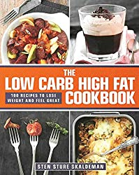 Book cover for Skaldeman's low carb high fat cookbook